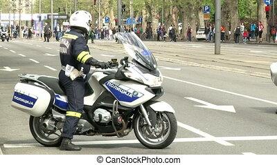 Policeman on a motorcycle - Policeman on a motorcycle,...
