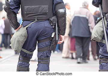 Policeman on duty. Counter-terrorism.