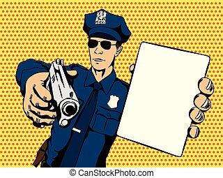 Policeman stops a crime