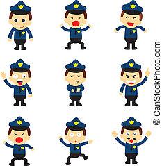 policeman vector cartoon