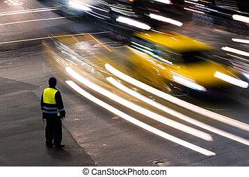 Policeman work