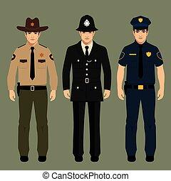policial, e, xerife