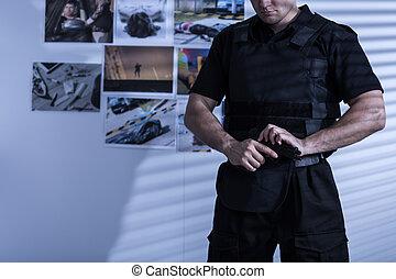 policial, uniforme policial