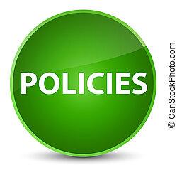 Policies elegant green round button
