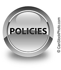 Policies glossy white round button