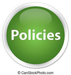 Policies premium soft green round button