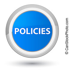 Policies prime cyan blue round button