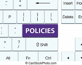 Policies purple keyboard button