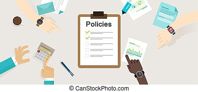 policies regulation concept list document company clipboard...