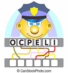 policja, gra, słowo
