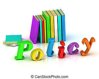 policy 3d inscription bright volume letter and textbooks on...