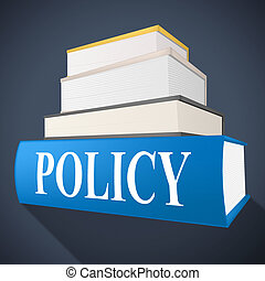 Policy Book Representing Rules Procedure And Non-Fiction