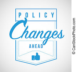 Policy changes ahead Modern stamp message
