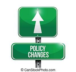 policy changes road sign illustration design