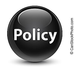 Policy glassy black round button
