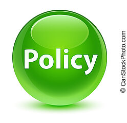 Policy glassy green round button
