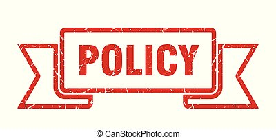 policy grunge ribbon. policy sign. policy banner