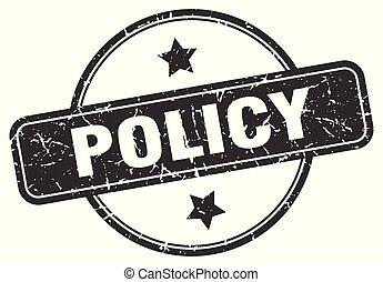 policy grunge stamp - policy round vintage grunge stamp