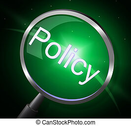 Policy Magnifier Shows Contract Rules And Legal