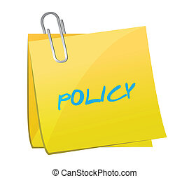 policy post illustration design