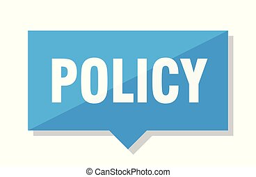 policy price tag - policy blue square price tag