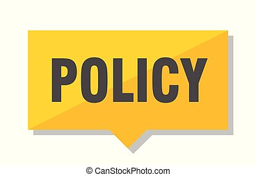 policy price tag - policy yellow square price tag