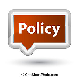 Policy prime brown banner button