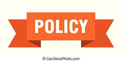policy ribbon. policy isolated sign. policy banner