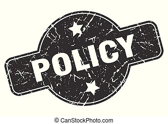 policy round grunge isolated stamp