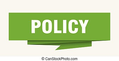 policy sign. policy paper origami speech bubble. policy tag....