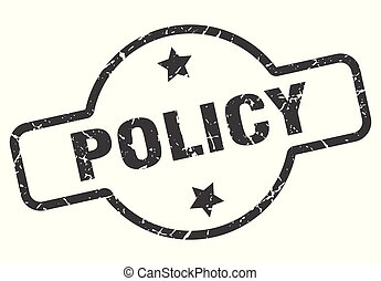 policy sign - policy vintage round isolated stamp