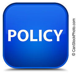 Policy special blue square button