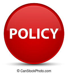 Policy special red round button