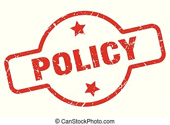 policy stamp isolated on white