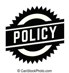 policy stamp on white background . Sign, label sticker