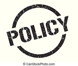 policy stamp - policy black round stamp