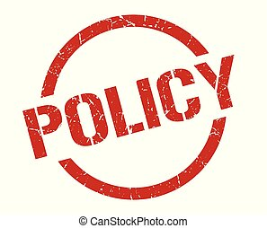 policy stamp - policy red round stamp