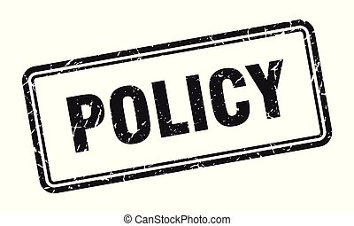 policy stamp. policy square grunge sign. policy