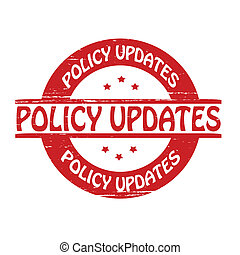 Policy updates - Stamp with text policy updates...