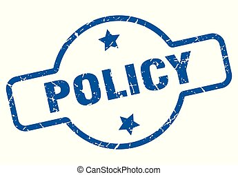 policy vintage stamp. policy sign