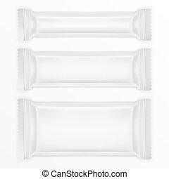 polietilene, sbarra, pacchetto, cibo, cioccolato, lamina, altro, bianco, o