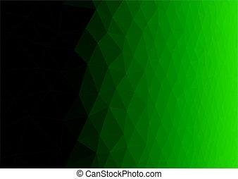 poligonal, 抽象的, 要素, 緑の背景
