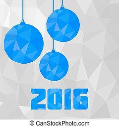 poligonal, balls., weihnachten