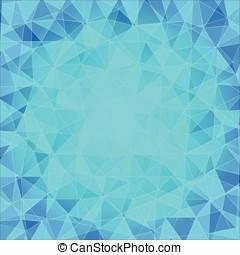 poligonal, blu, astratto, fondo