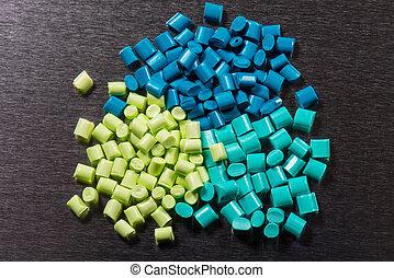 polimer, kilka, zielony, żywice