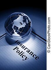 polis, globe, verzekering