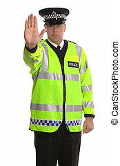 polis, trafik, stopp