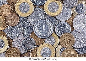 Polish coins, a background