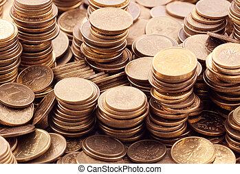 Polish coins macro shot