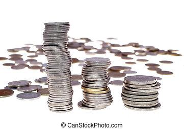Polish coins - Polish money isolated on white